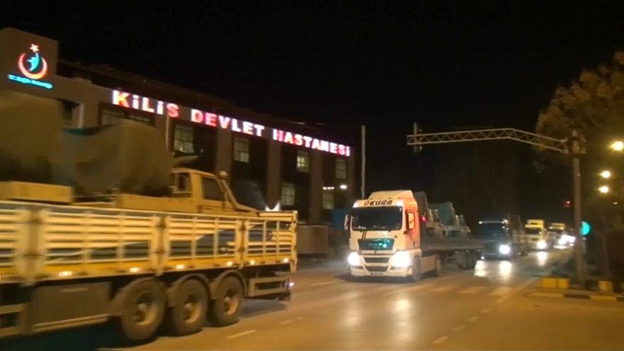 Video | Suriye'ye askeri harekât: Sınır birliklerine Kilis üzerinden sevkiyat