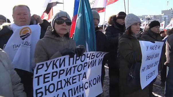 """Акция на Сахалине: """"У нас нет лишней земли"""""""