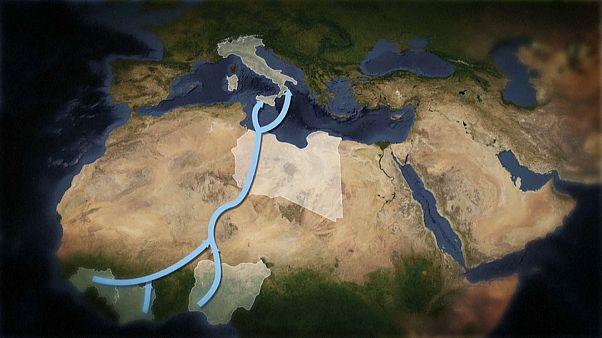 مسیرهای پناهجویان برای رسیدن به اروپا در یک نگاه