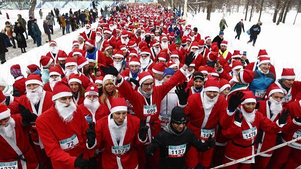 Une course de Pères Noël