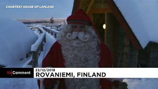 Watch Santa's depart to his annual journey around the world