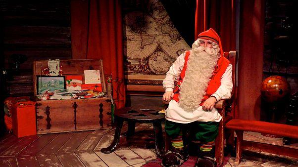Noel Baba'dan yılın mesajı: Sevgiyi ve doğayı kucaklayın