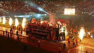 Gran fiesta del River Plate en Buenos Aires