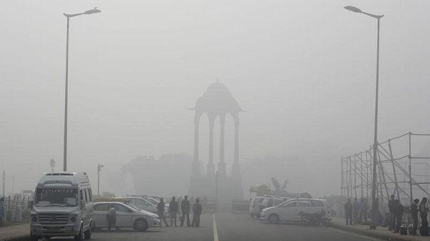 Hindistan'da hava kirliliği yılın en üst seviyesine ulaştı