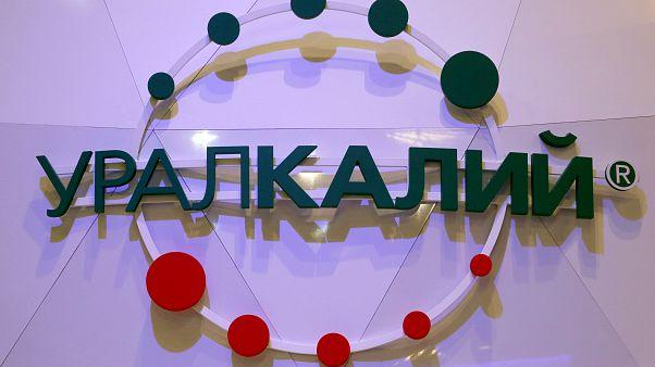 The logo of Russian potash producer Uralkali.