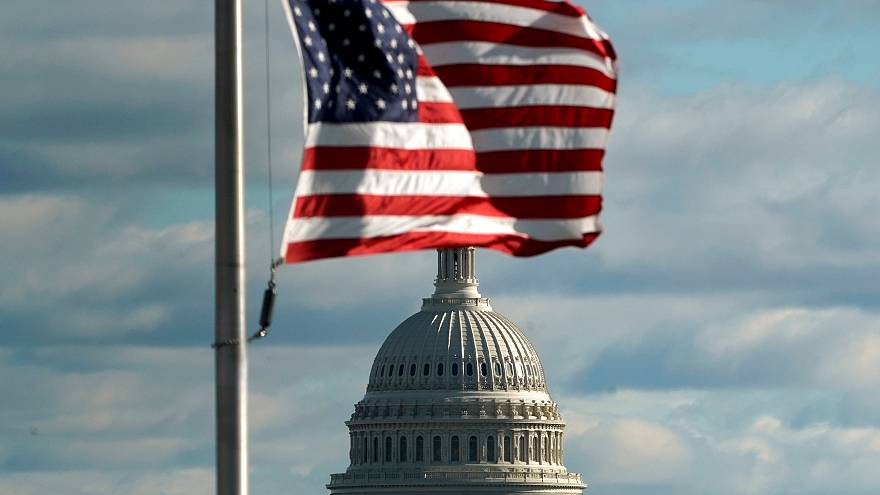 US Capitol is seen on the 1st day of a partial federal government shutdown