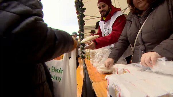 Budapest: Die Armenspeisung zu Weihnachten wird immer wichtiger