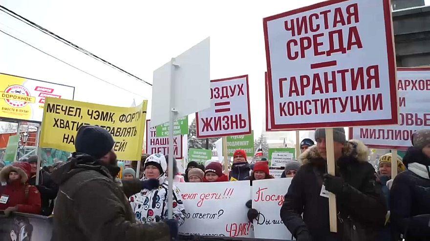 Proteste contro lo smog negli Urali