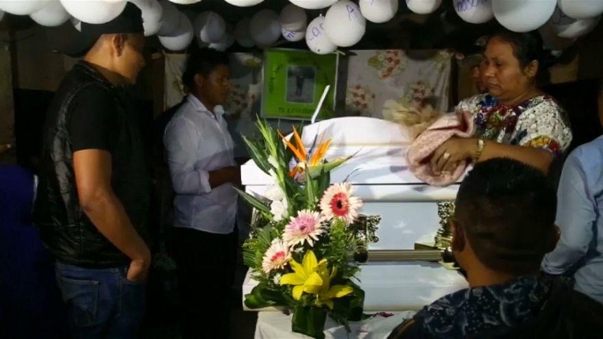 Funeral de la niña guatemalteca muerta en EEUU