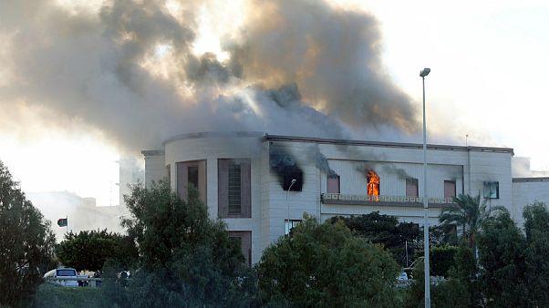 مهاجمان مسلح به ساختمان وزارت خارجه لیبی حمله کردند