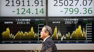 Bolsas asiáticas em queda