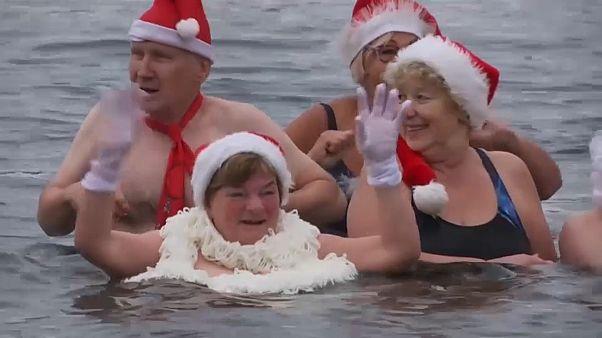 Bagno gelato di Natale a Berlino