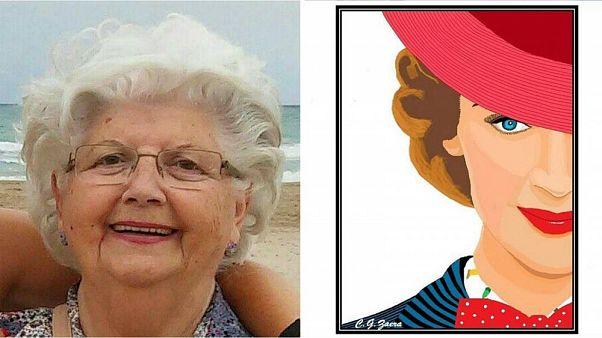 Disney encarga a Concha, la artista española de Paint de 88 años, un cartel de Mary Poppins