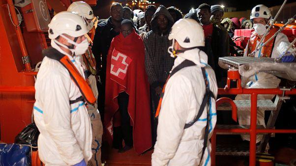 Rescatados 128 migrantes en la costa sur de España