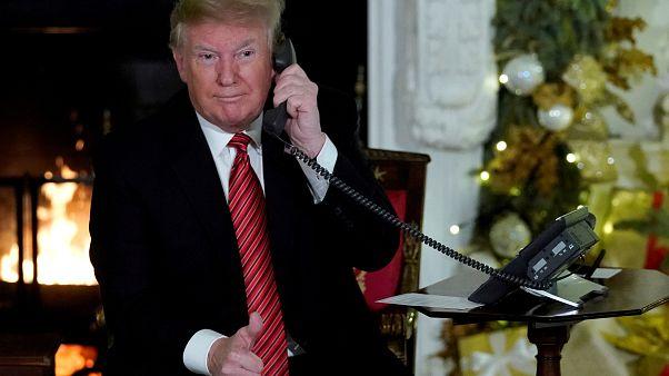 Trump'ın 'Noel babaya inanmak marjinal' dediği çocuk konuşmayı anlamamış