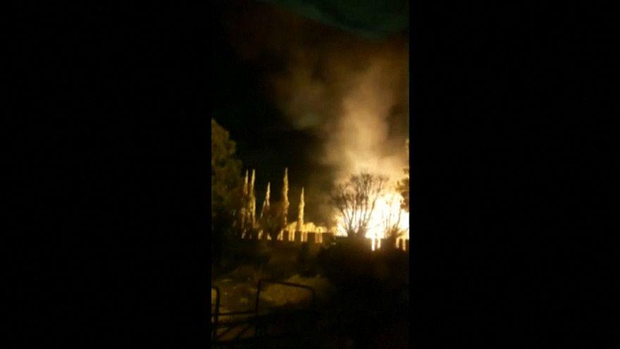 حزب الله ينشر فيديو يقول إنه للدفاعات الجوية السورية خلال تصديها  للهجوم الإسرائيلي