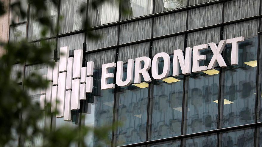 The logo of stock market operator Euronext