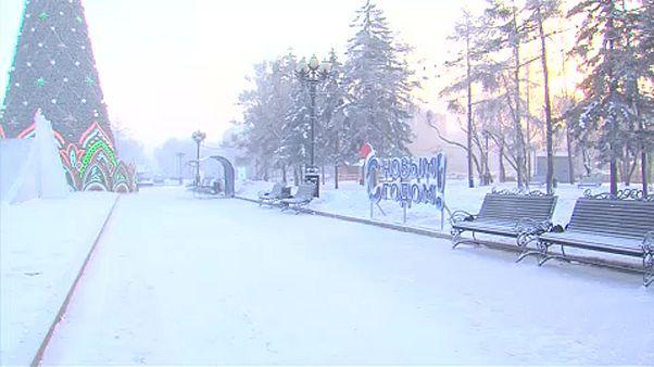 Paysages glacés en Sibérie