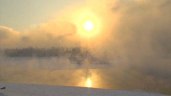 Mínusz 30 fokos a szibériai tél