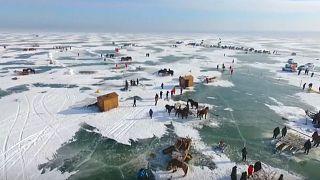 Τουρνουά ψαρέματος στον πάγο στην Κίνα