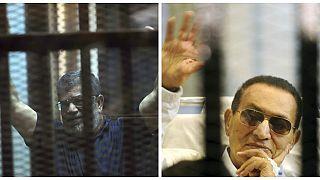 Video | Mısır'ın eski liderleri Mursi ve Mübarek mahkemede yüz yüze