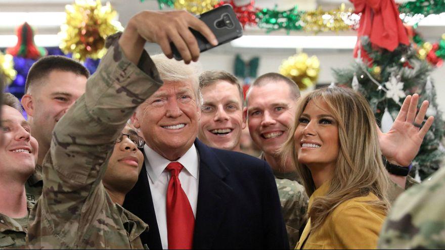 ترامپ در سفر نامنتظره به عراق: آمریکا دیگر نمیتواند ژاندارم جهان باشد