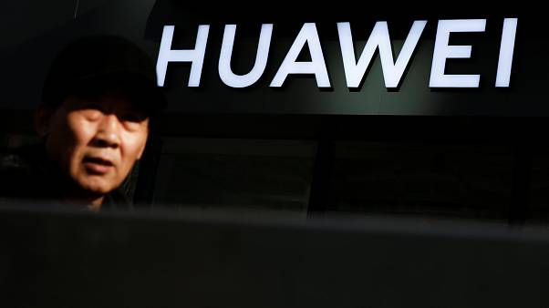 A Huawei phone retail shop in Beijing, China, December 19, 2018.