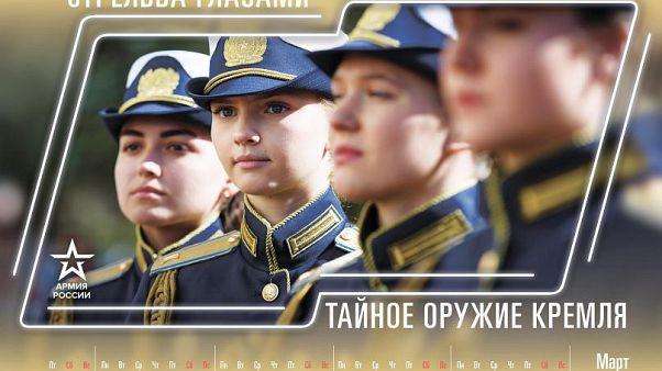 Moskova'nın 2019 propaganda takvimi: Kremlin'in gizli silahı ölümcül bakışlar