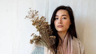 These cashmere scarves can be planted back into the soil after use
