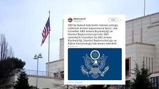ABD Türkiye elçiliği tweet atmayı durdurdu