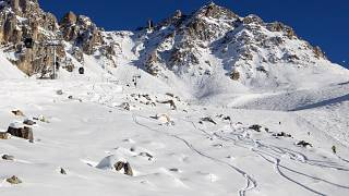 A generic view of an off-piste area in the French Alps