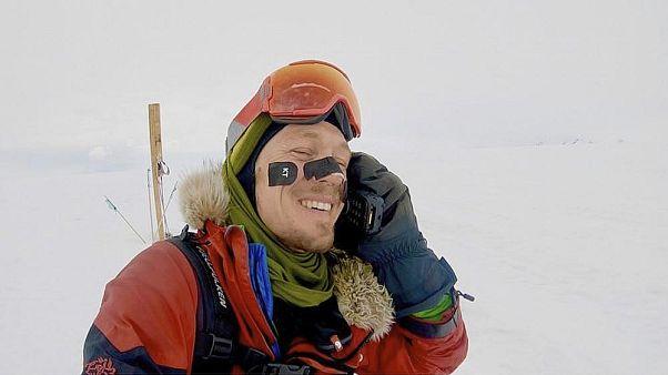 Elsőként kelt át valaki egyedül az Antarktikán