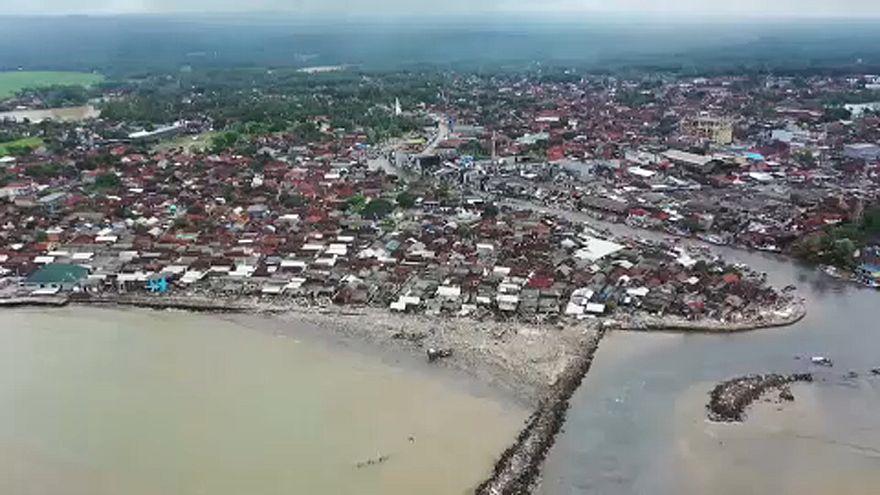 ویرانی حاصل از سونامی در سواحل اندونزی