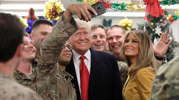 Trump Irak gezisinde gizli tutulan askeri yerleri ve kimlikleri deşifre etti
