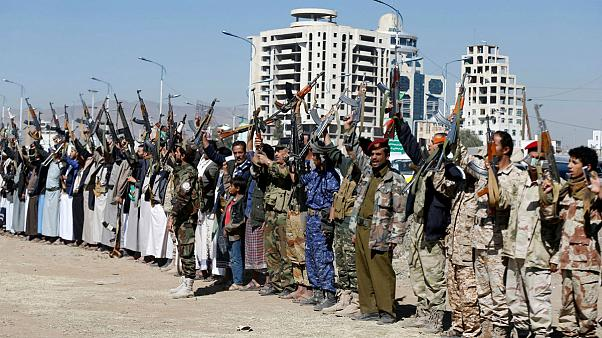 Armed Houthi followers - Sanaa