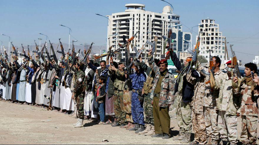 Armed Houthi followers - Sanaa