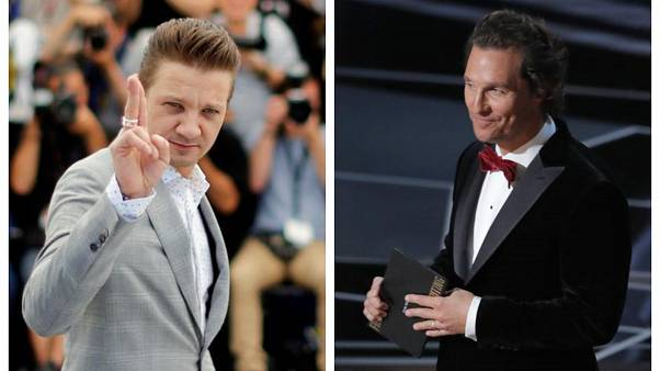 Actors Jeremy Renner and Matthew McConaughey
