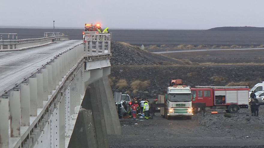 A car plunged off the bridge in Iceland killing three British tourists