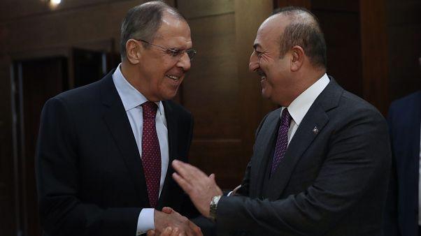 Rusya Dışişleri Bakanı Sergey Lavrov Türk Dışişleri Bakanı Mevlüt Çavuşoğlu