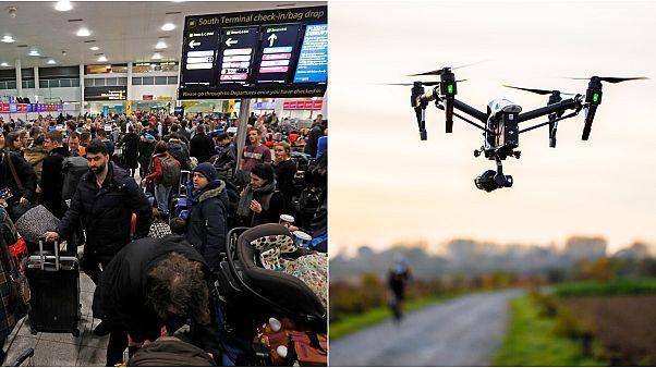 Drone var mıydı, yok muydu? İngiltere'nin Gatwick Havaalanı'nı felce uğratan 'drone' muamması