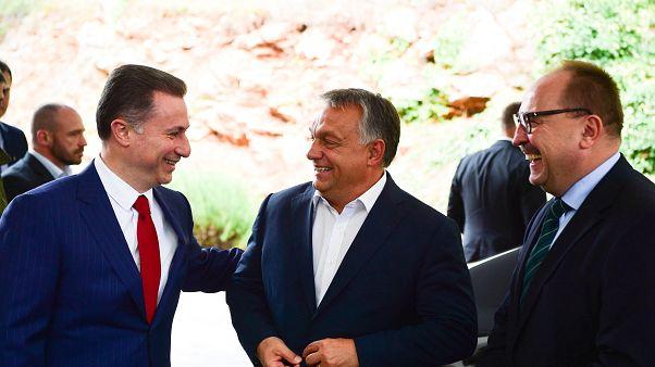 Nikola Gruevszki és Orbán Viktor Ohridban 2017. szeptember 28-án