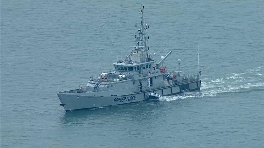 Schiff des britischen Grenzschutzes