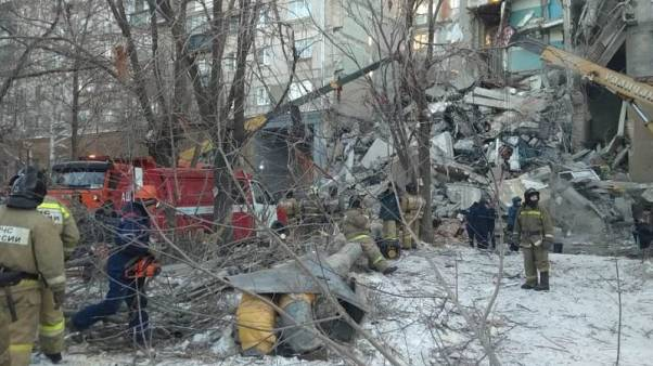 Gázrobbanás miatt összedőlt egy épület Oroszországban
