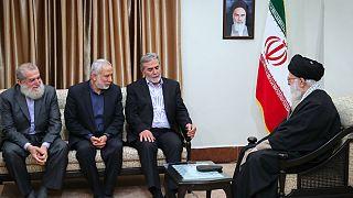 علی خامنه ای: فشار جهانی هرگز مانع حمایت ایران از فلسطین نخواهد شد