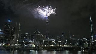 New Year fireworks light up skies over Auckland