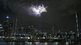 جشن نور و آتش در نیوزیلند؛ آغاز سال ۲۰۱۹ میلادی