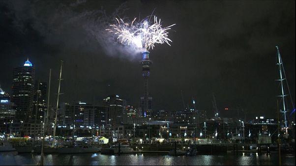 شاهد: نيوزيلندا تحتفل بحلول العام 2019