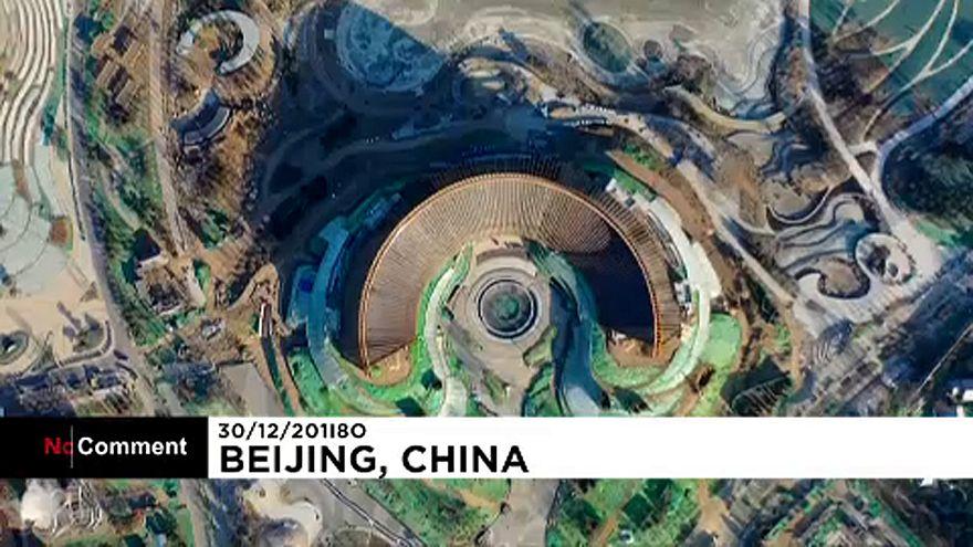 """شاهد: الاستعدادات الصينية لافتتاح """"معرض بكين الدولي للبساتين 2019 """""""