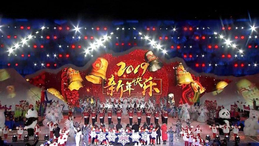 شاهد: بكين تودع العام 2018 وتستقبل العام الجديد باحتفالات ضخمة