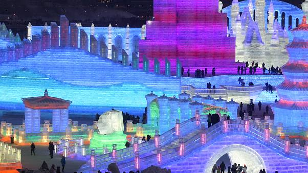 Ice and Snow World park ahead of the Harbin Ice and Snow Sculpture festival